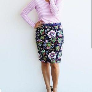 Boden Floral Modern Pencil Skirt 4regular NWOT